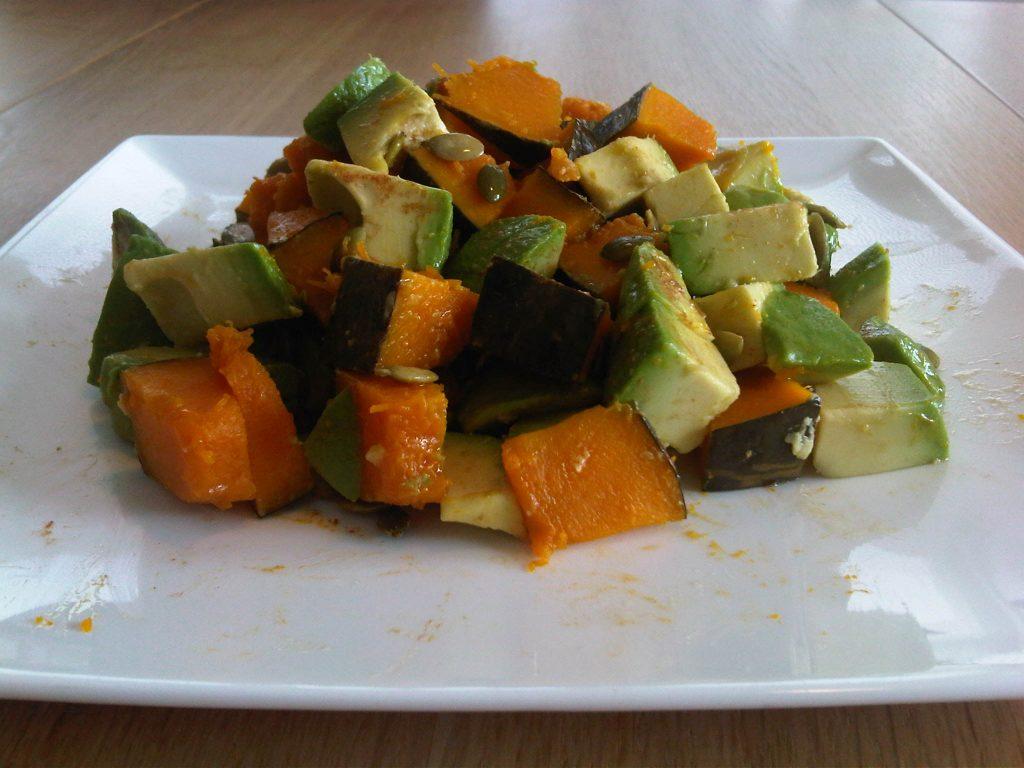 pompoen avocado salade