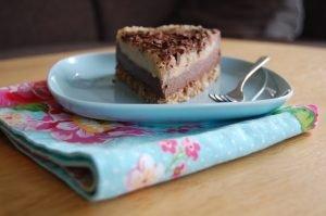 Chocolade-vanilletaart