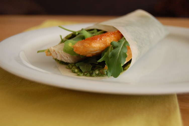 Kip-pesto wrap