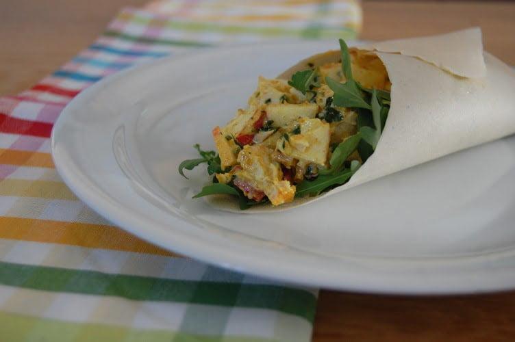 Wrap met kip-kerrie salade 2