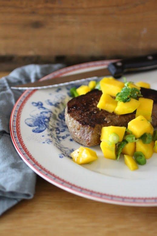 Japanse steak met mangosalsa