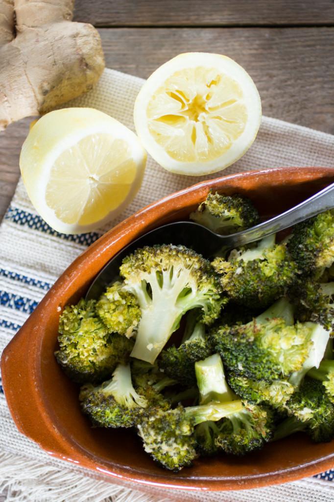 Geroosterde broccoli met citroen en gember-2