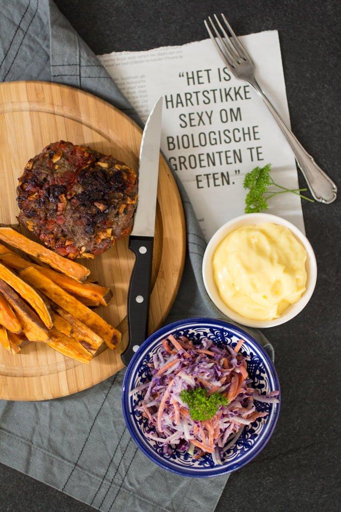 Zelfgemaakte Appelmoes Nederlandse Keuken : Chorizoburgers-1