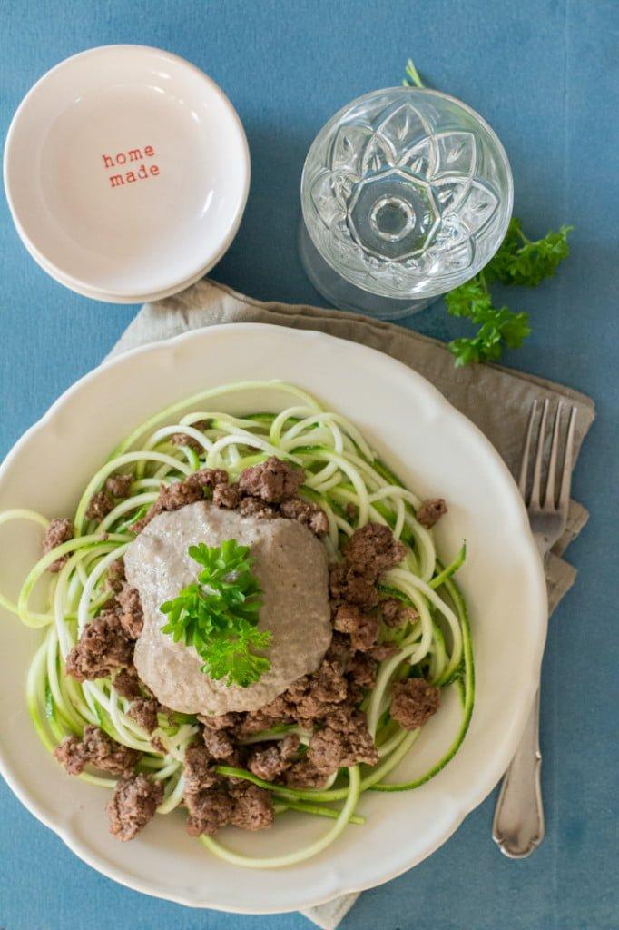 Paleo Pasta met Champignonroomsaus-2