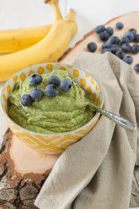 Groene vanillepudding