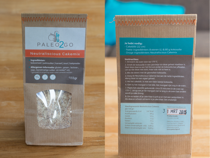 Paleo2Go cakemix-breed