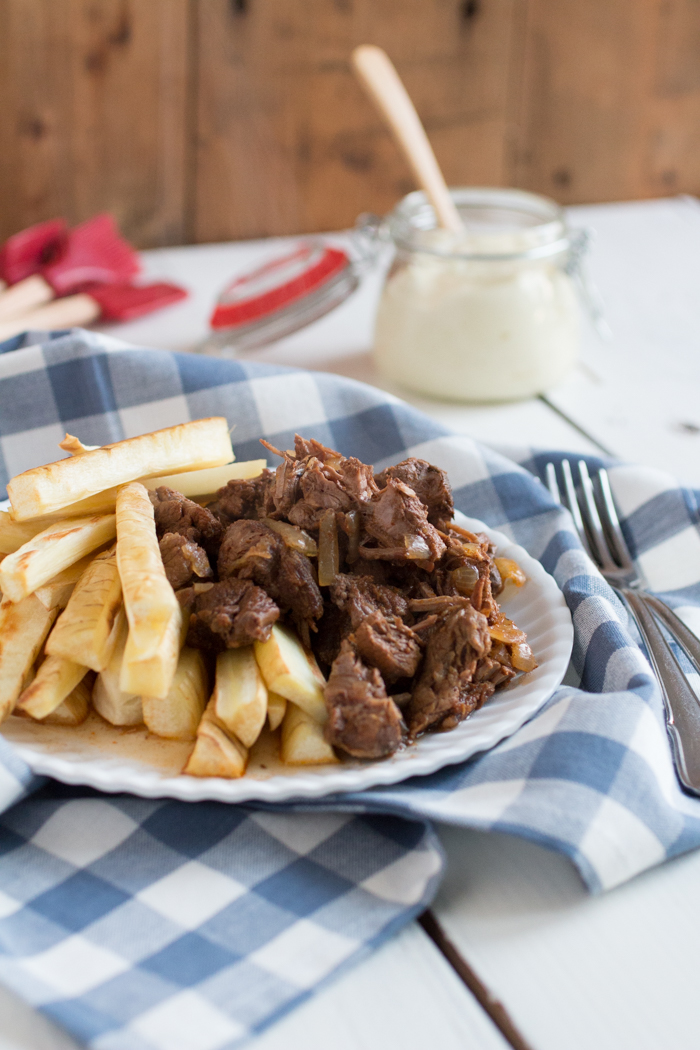 Friet met stoofvlees