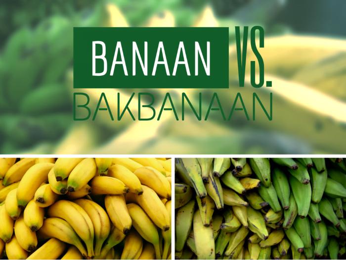 Banaan vs Bakbanaan