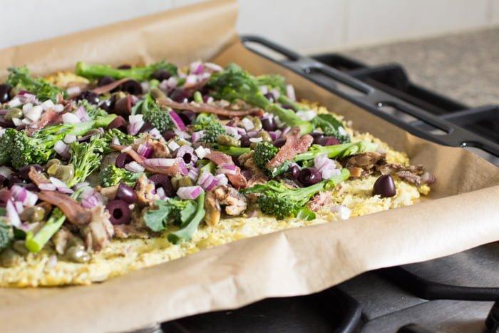 Paleo Pizza Niçoise