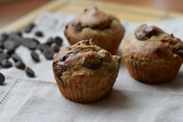 Chocolade bananen muffins