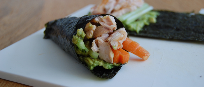 Lunchspecial - paleo temaki sushi
