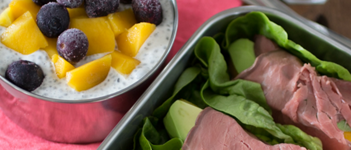 Lunchspecial - rosbiefwraps en chia pudding