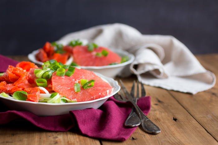 Zalmsalade met Grapefruit