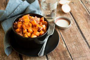 Zoete Aardappel met Spek en Ui