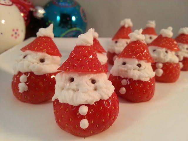 Aardbei Kerstmannetjes