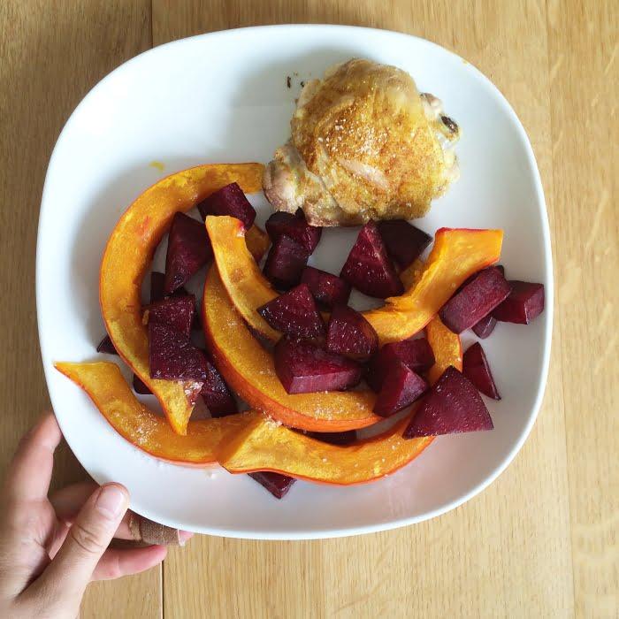 Makkelijk diner met kip en geroosterde groenten