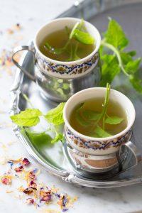 Libanese Muntthee met rozenwater