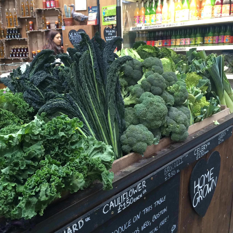 Mooie groenten op Borough Market