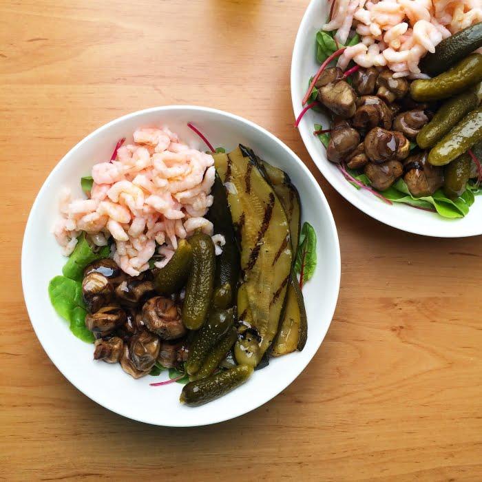 De makkelijkste Paleo salade met garnalen