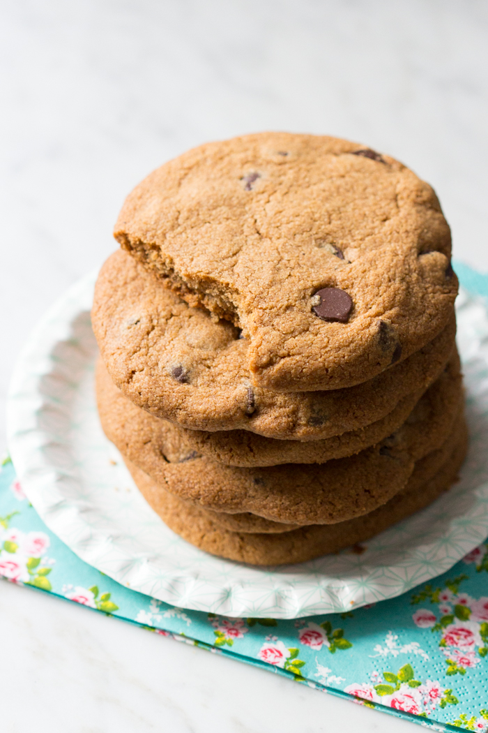 Knapperige Paleo Chocolate Chip Cookies