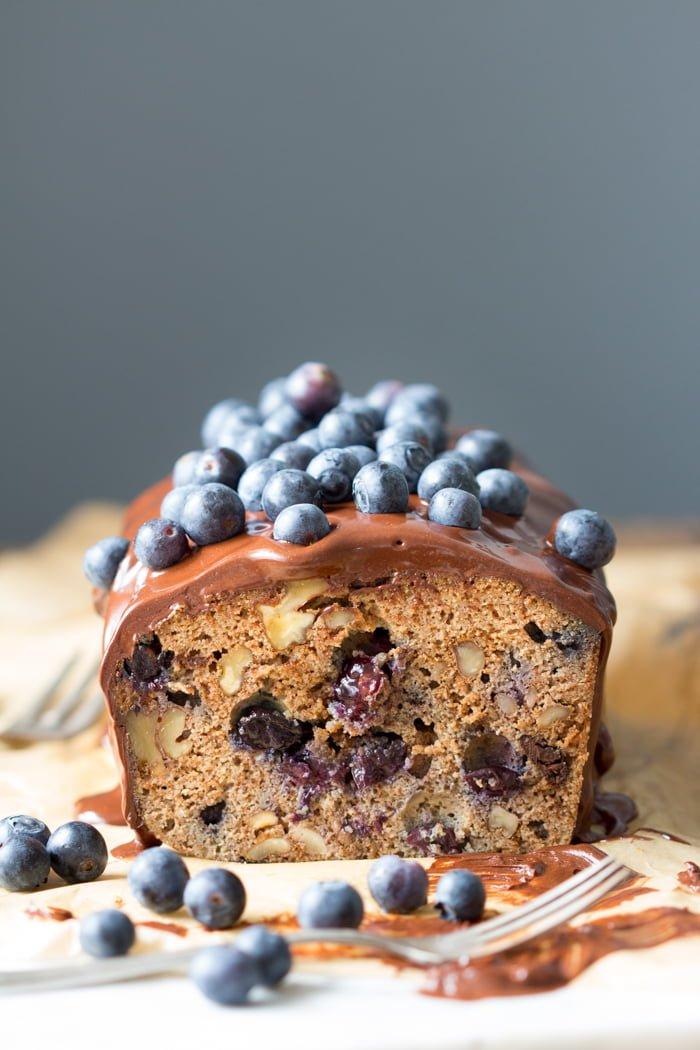 Luxe Kruidkoek met Chocolade en blauwe bessen