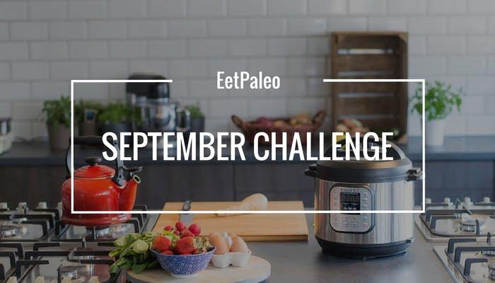 EetPaleo September Challenge blog titel