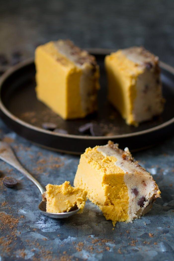 Luxe Pompoen-Chocolade Cheesecake