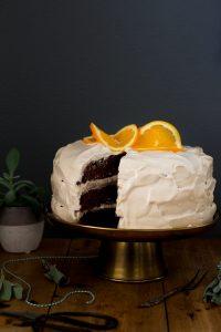 Chocolade-Sinaasappel Taart met Maple Frosting