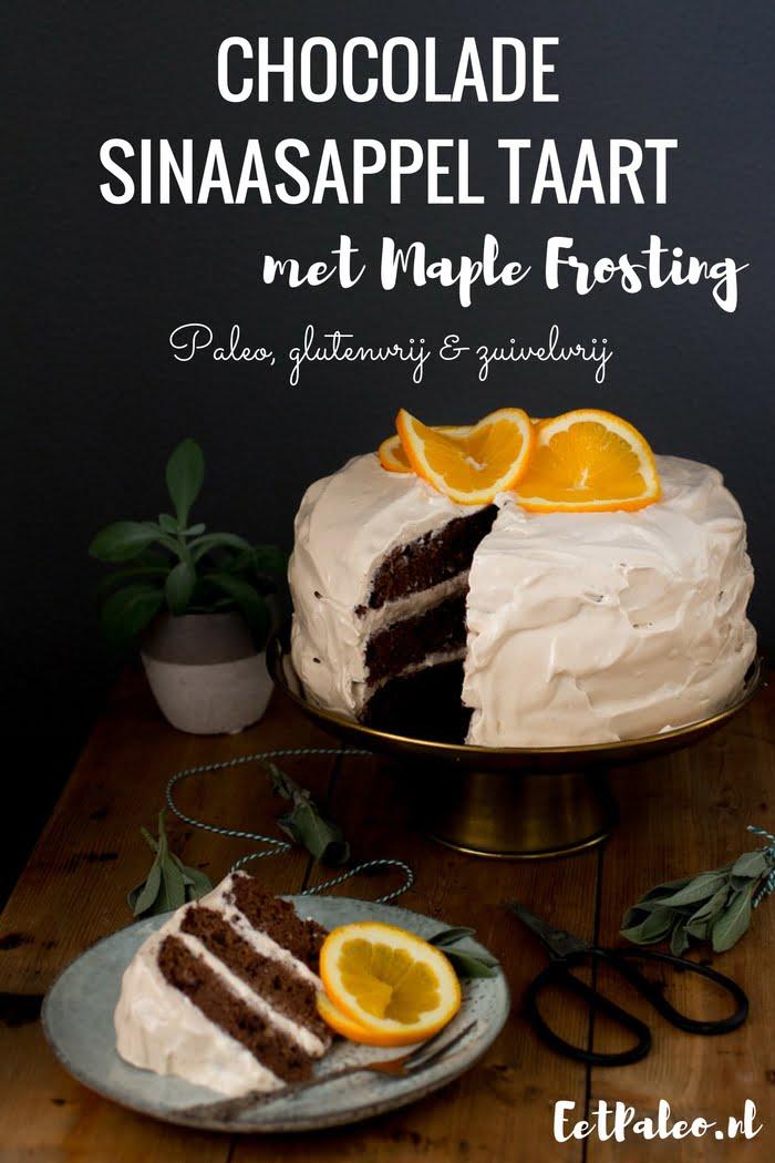 Chocolade Sinaasappel taart met maple frosting