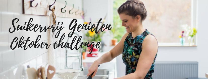 Suikervrij Genieten oktober challenge facebook groep cover
