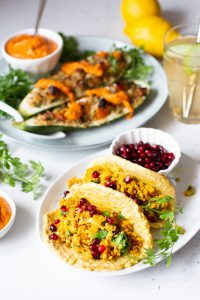Vegetarische taco's met rijstvulling recept Paleo bloemkoolrijst