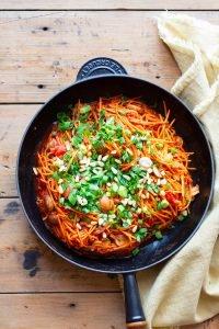 Zoete aardappel pasta zelf maken recept Paleo glutenvrij lactosevrij