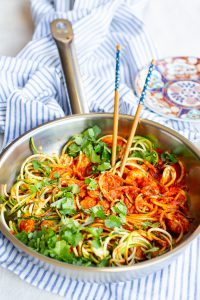 Spicy Garnalencurry met Courgetti